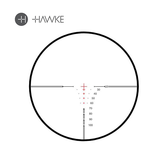 Hawke Xb30 pro crossbow scope reticle