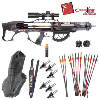 "Ravin R26 Platinum Crossbow Package with Plano Spire Compact Hard Case and Rocket Ultimate Steel 100gr 1"" Fixed Blade Broadheads"
