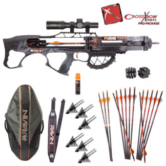 "Ravin R26 Crossbow Pro Package with Ravin R26 Specific Soft Case and Rocket Ultimate Steel 100gr. 1"" Cut Fixed Blade Broadheads"