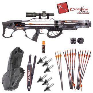 Ravin R29 Fully Assembled Crossbow Pacakge with Plano Spire Hard Case and Rocket Ultimate Steel 100 Broadheads