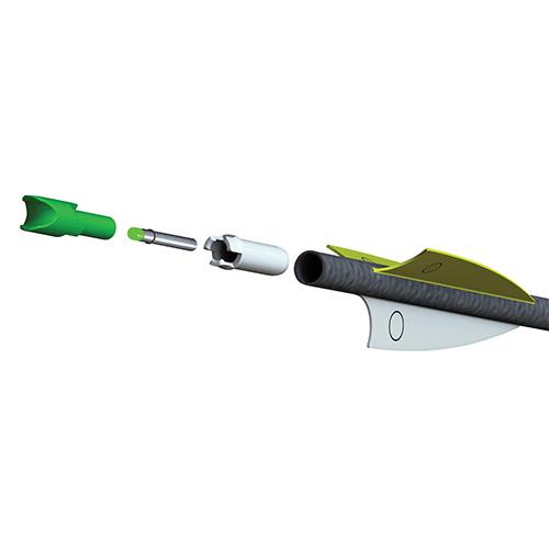 alpha bright nock system green
