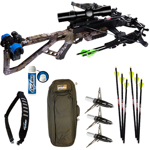 Excalibur Micro 360 TD Pro Hunter Package in Kryptek Altitude with lighted nocks, broadheads, case and a sling!