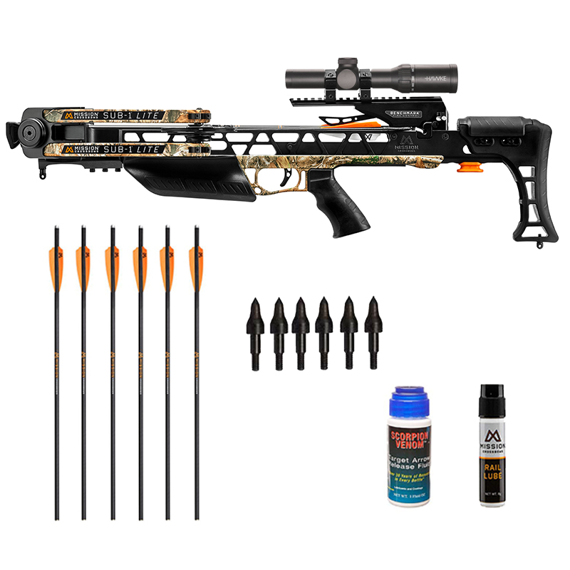 Mission Sub 1 Lite crossbow shooter package in stock with free shipping from the Crossbow Experts.