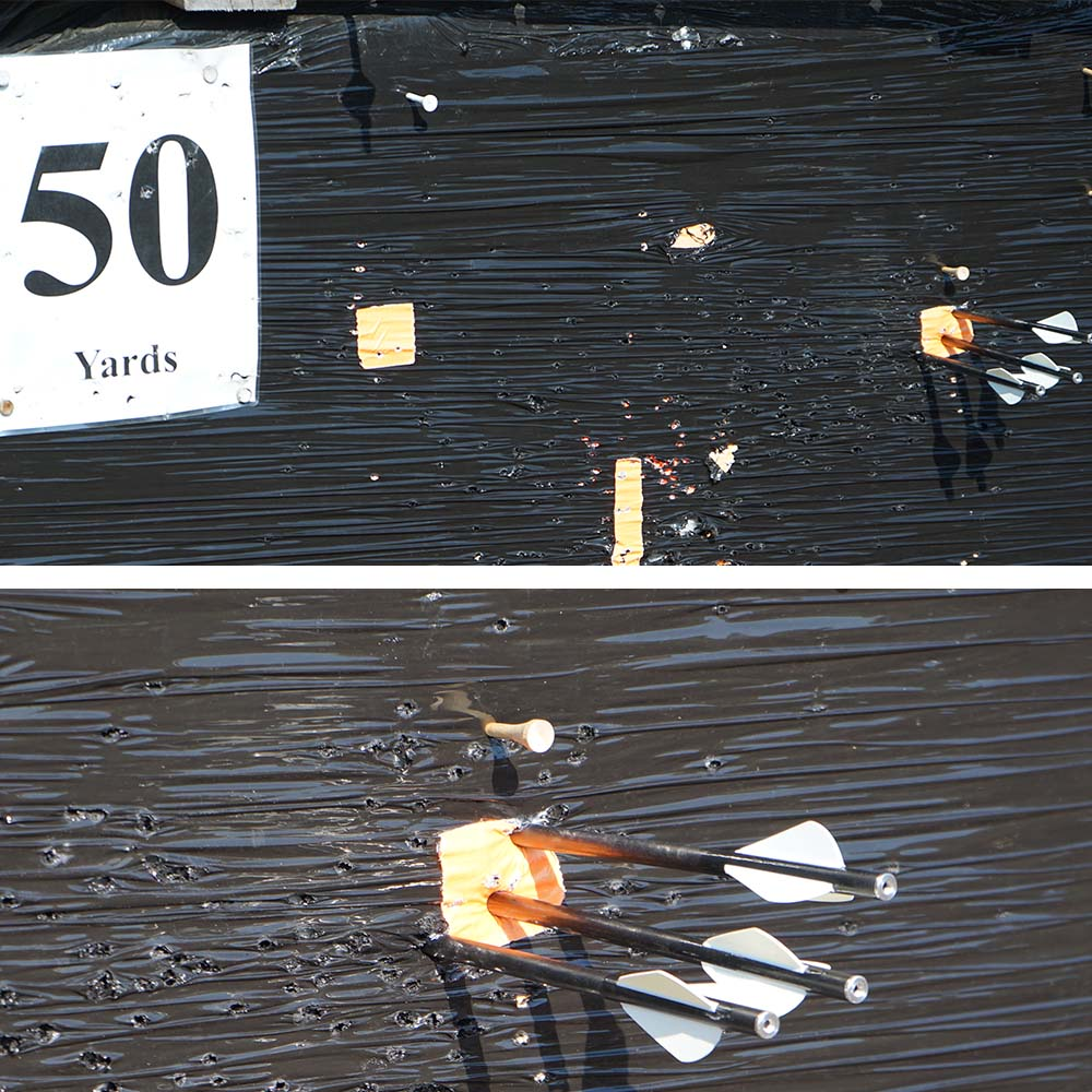 50 yard grouping with the micro 360 at the outdoor shooting range