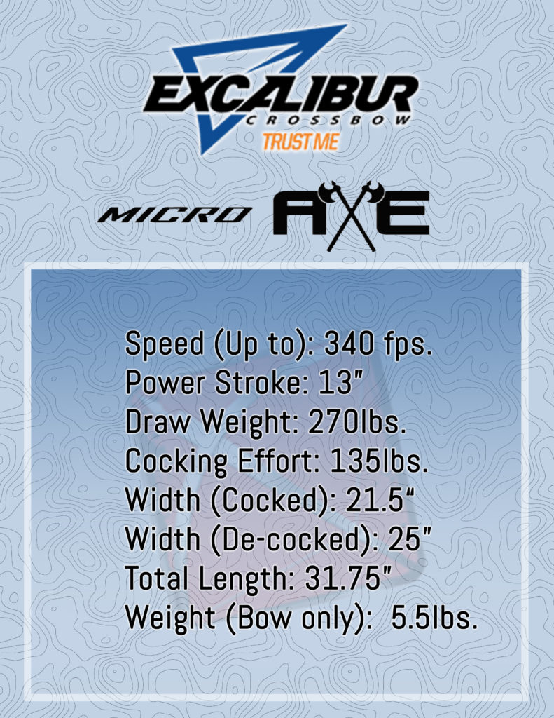 Excalibur Micro Axe 340 Crossbow Specs Infographic