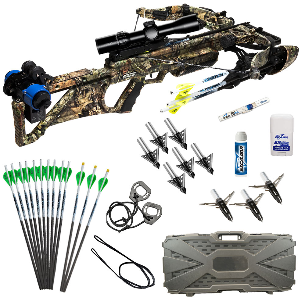 Excalibur Micro Suppressor 400 Takedown Fully Assembled Package in Realtree Edge