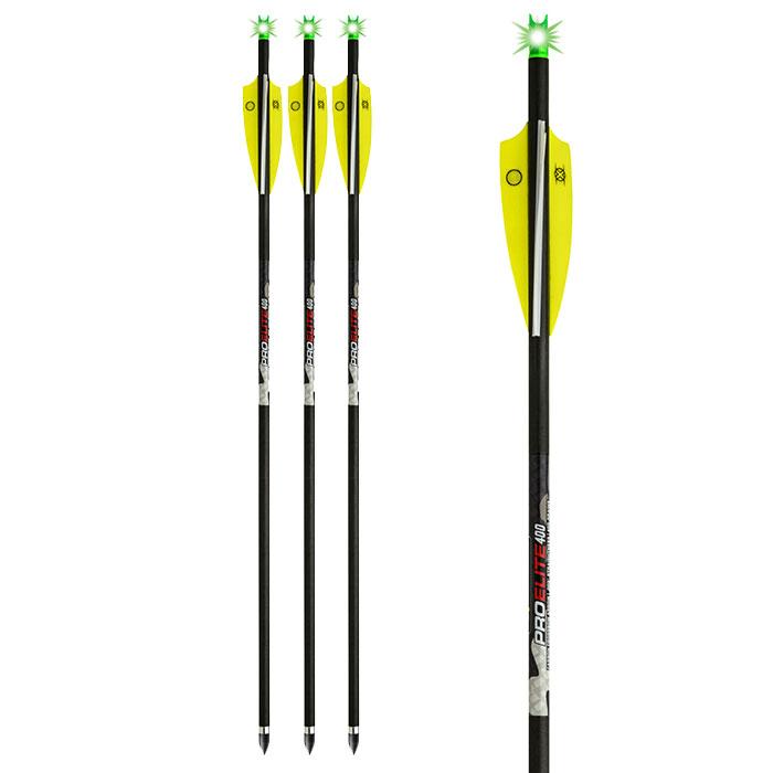lighted ten point pro elite 400gr. alpha brite crossbow arrows